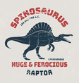 Spinosaurus t-shirt design print typography vector image