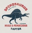 Spinosaurus t-shirt design print typography vector image