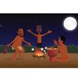 African masked tribal dancers vector image