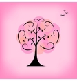 Colorful tree Background card template vector image vector image
