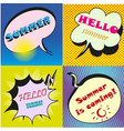 colorful speech bubbles with text hello vector image