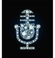 Diamond Microphone vector image