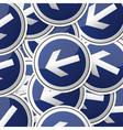 Danger symbol traffic board collection set vector image