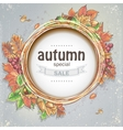 Background for big autumn sale with the image of vector image