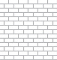 White Bricks Background - Seamless Flat Design vector image vector image