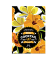Cocktail bar menu template design vector image