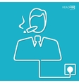 Connection flat design business vector image