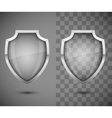 Glass Transparent Shield vector image