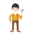 Happy japanese businessman vector image