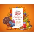 Happy Thanksgiving Day greeting vector image