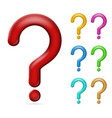 question mark solution search isolated 3d design vector image