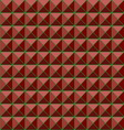 Red studs seamless texture background vector image