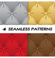 set of seamless patterns with soft upholstery vector image