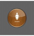 Woman wood application icons vector image