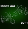 Motorbike Silhouettes Set 1 vector image