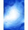 blue background with lines vector image vector image