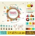 Travel and tourism infographics with data icons vector image