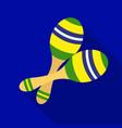 brazilian maracas icon in flate style isolated on vector image