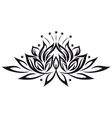 lotus flower design element vector image