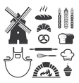 Bakery icons and symbols vector image