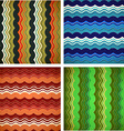 Collection of aged wavy patterns vector image vector image