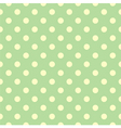 Tile pattern yellow polka dots green backgground vector image