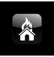 house burning single vector image vector image