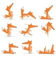 Fox poses vector image