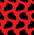 Angry dog seamless pattern Background of vector image