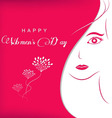 Background for Womens day vector image