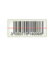 bar code with laser light vector image