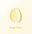Creative Paper Cut Easter Egg vector image