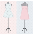 Different vintage dresses on a mannequin vector image