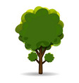 green abstract tree for advertising and vector image