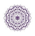 Mandala with Christmas elements vector image