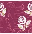 seamless vintage rose pattern background vector image