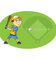 baseball player swinging vector image
