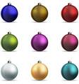 Set Colorful christmas balls vector image