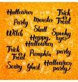 Halloween Gold Lettering Design vector image