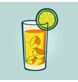 Drink with lime and ice vector image