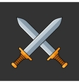 Two Crossed Swords Icon vector image