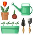 garden tool set vector image vector image