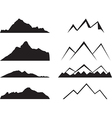 Mountains silhouette vector image