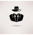 Icon spy secret agent the mafia icon vector image