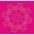 Ornament on the pink ethnic background vector image