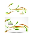 abstract spring summer waves vector image vector image
