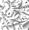 Seamless pattern of keyboards vector image