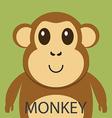 Cute brown monkey cartoon flat icon avatar vector image