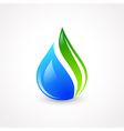 Eco Water Drop vector image