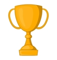 Golden trophy cup icon cartoon style vector image